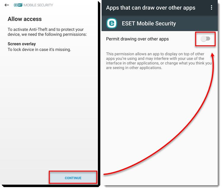 آموزش فعالسازی ضد سرقت ESET در موبایل