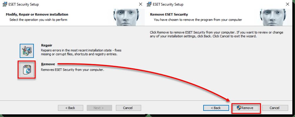 آموزش پاک کردن نرم افزار نود 32 در ویندوز 10