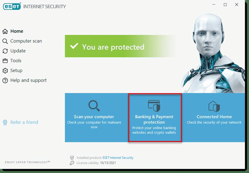 محافظت از کارت پرداختی با ESET Banking & Payment